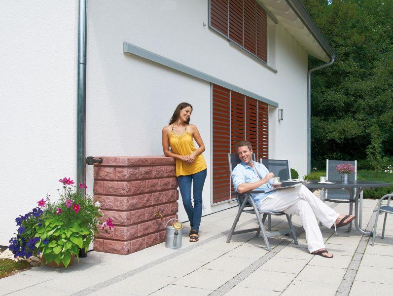 rocky wandtank regentonne wasserfass 400 l tank neuheit. Black Bedroom Furniture Sets. Home Design Ideas