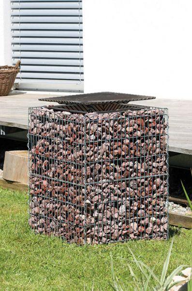 Hochgrill gabione grill feuerstelle bellissa ebay for Garten steine 40x40
